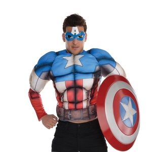 Captain America Muscle Shirt New In Package!